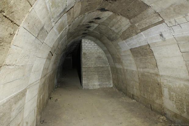 Wnętrza schronu na Wzgórzu św. Maksymiliana w Gdyni.
