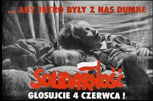 Jeden z plakatów z 1989 roku zachęcający do udziału w wyborach.