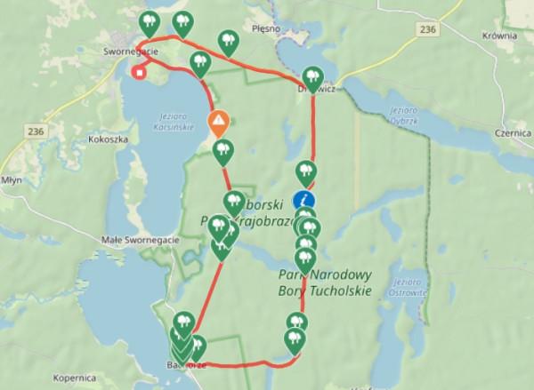 Kliknij na mapę i prześledź trasę naszej wycieczki