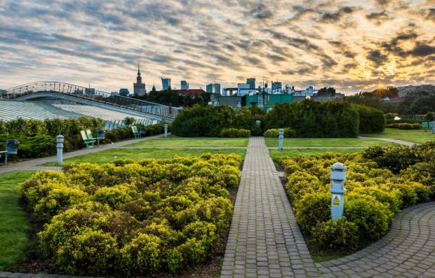 Ponad hektarowy, istniejący od 2002 roku, ogród na dachu biblioteki Uniwersytetu Warszawskiego jest dowodem na to, że zieleń w takim miejscu można utrzymać. Nawet jeśli ma ona do dyspozycji zaledwie 30 cm ziemi.