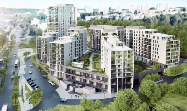 Alvarium. Redłowo. Zielony taras w kompleksie mieszkaniowo-usługowym będzie posadowiony kilkanaście metrów nad poziomem al. Zwycięstwa. Spojrzenie z tej wysokości na główną arterię pozwoli poczuć nastrój tej wielkomiejskiej zabudowy.