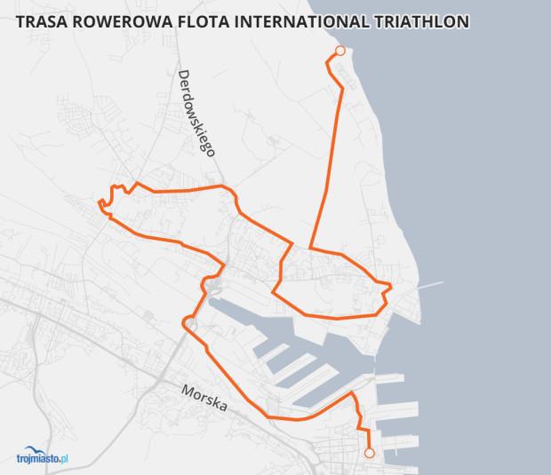 Flota International Triathlon - trasa kolarska