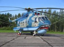 Mi-14PŁ wyróżnia się nie tylko ciekawym malowaniem.