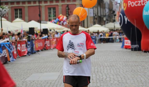 Paweł Szulwach, 43-letni fizjoterapeuta z Gdańska dystans maratoński traktuje jako zwykły trening.