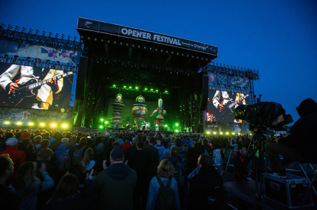 Opener Festival 2019. Na zdjęciu: The Smashing Pumpkins.