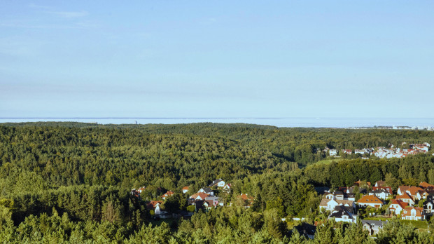 Widok na Gdynię z wieży Donas