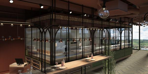 Kuchnia będzie otwarta i przeszklona. jej stylistyka ma nawiązywać do werand starych oliwskich kamienic.