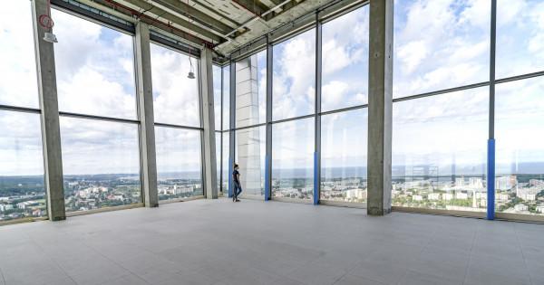 34 piętro Olivia Star od wewnątrz. Tu powstanie centrum konferencyjne.