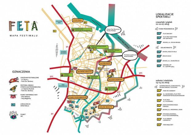 Mapa tegorocznej odsłony Festiwalu FETA.