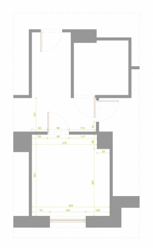 Kształt i wymiary projektowanego pokoju.