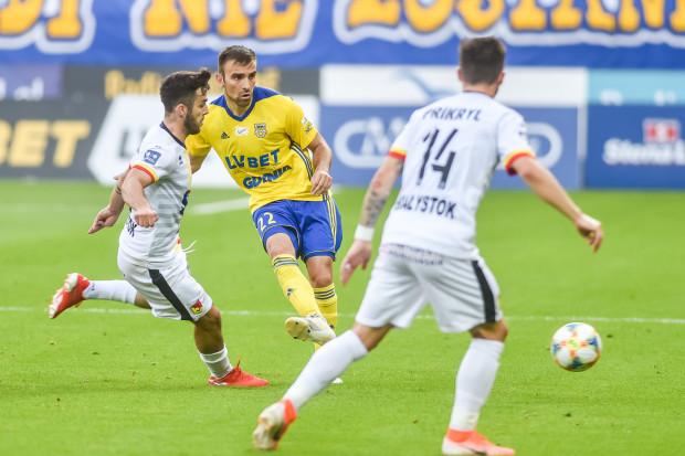 Azer Busuladzić w meczu z Jagiellonią Białystok wyszedł w pierwszym składzie Arki Gdynia. W 80. minucie zmienił go Rafał Siemaszko.
