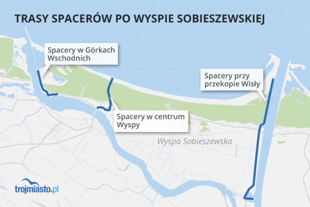 W sierpniu odbędzie się w sumie 13 spacerów po Wyspie Sobieszewskiej z przewodnikami w trzech obszarach, a w każdym z nich będą ich różne warianty.