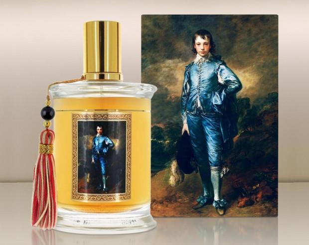 """MDCI wydało serię perfum poświęconą obrazom. Na zdjęciu Blue Satin, którego inspiracją był """"Błękitny chłopiec"""" autorstwa Thomasa Gainsborougha."""