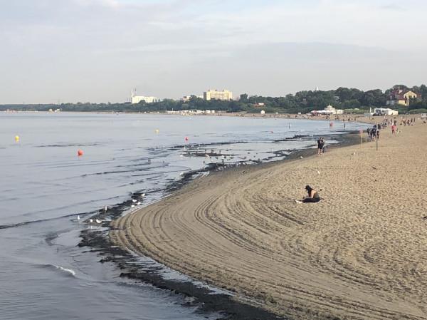 We wtorek rano plaża wyglądała tak samo, jak w weekend.