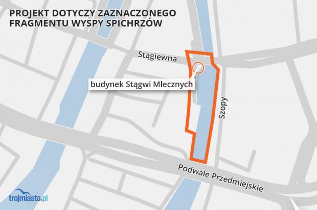 Projekt zmiany planu obejmuje obejmuje teren wpisany do rejestru zabytków jako historyczny układ urbanistyczny miasta Gdańska.