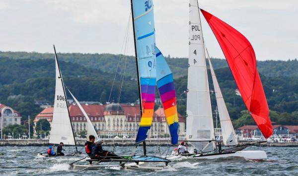 W mistrzostwa Polski katamaranów w Sopocie rywalizowały 44 jednostki.