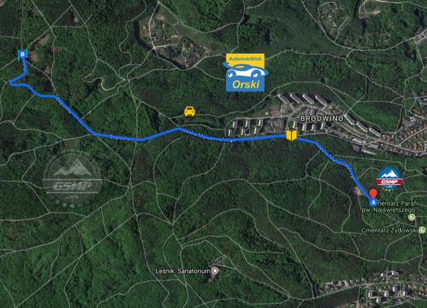 Trasa tegorocznych wyścigów górskich.