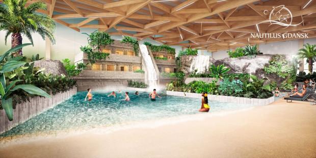 W Nautilusie powstanie  strefa z dziewięcioma basenami oraz plażą z dostępem do wody.