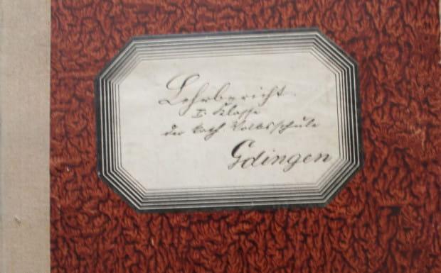 Dziennik nauczycielski katolickiej szkoły w Gdyni, 1917-1922. Ze zbiorów Muzeum Miasta Gdyni