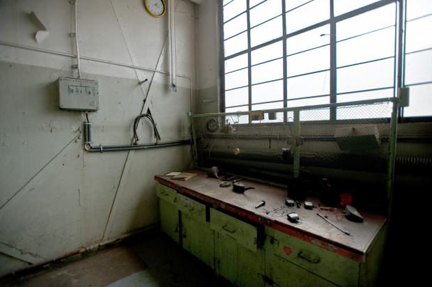 Tak wyglądał odtworzony warsztat Lecha Wałęsy, gdy był jeszcze dostępny dla turystów.