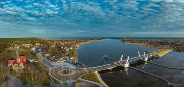 Wyspa Sobieszewska - Most 100-lecia Niepodległości Wyspa Sobieszewska przed zachodem słońca