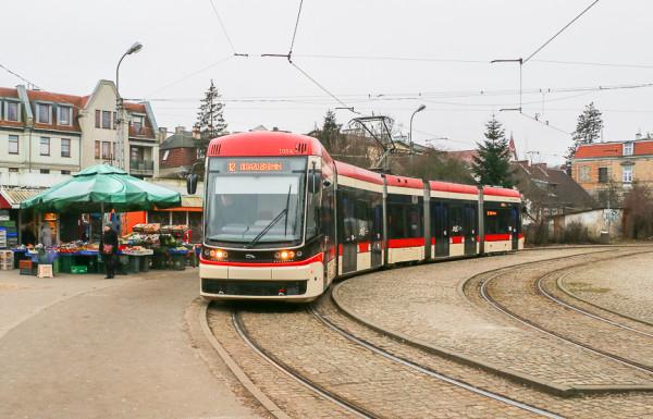 Do pętli w Oliwie dojeżdżać będą jedynie tramwaje linii 2 (od strony ul. Pomorskiej).