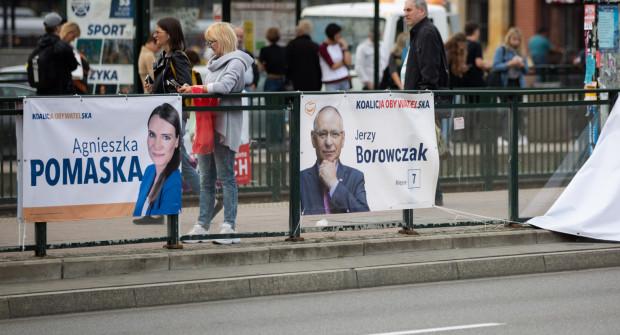 W Gdańsku zaczyna przybywać plakatów wyborczych.