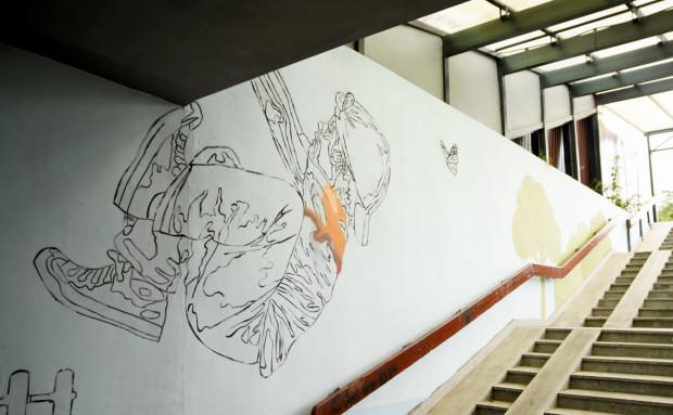 Mural zastąpi bazgroły, które wcześniej szpeciły przejście.