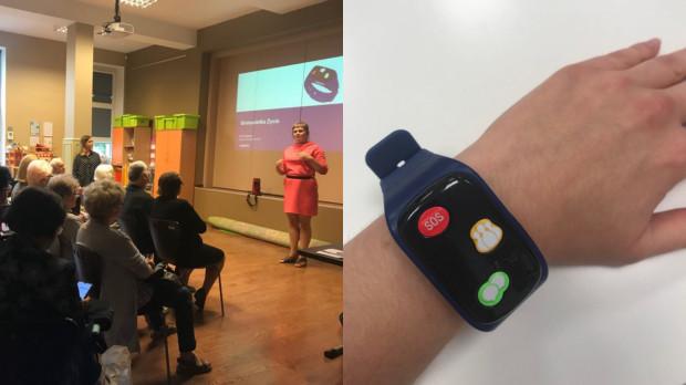 Nowa opaska jest bardzo intuicyjnym urządzeniem, które trzeba nosić na ręku - mierzy puls, ma lokalizator i czujnik upadku.