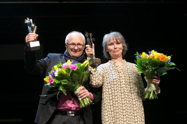 """Jacek Godek i Linda Vilhjalmsdottir, gala wręczenia nagrody literackiej """"Europejski Poeta Wolności"""""""