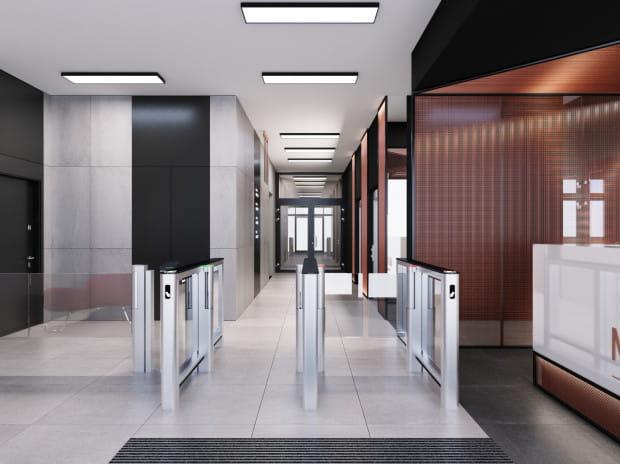 Wnętrze budynku biurowego Matarnia Office Park.