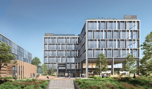 Budynek Alpha będzie pierwszym z siedmiu biurowców Airport City w Gdańsku.