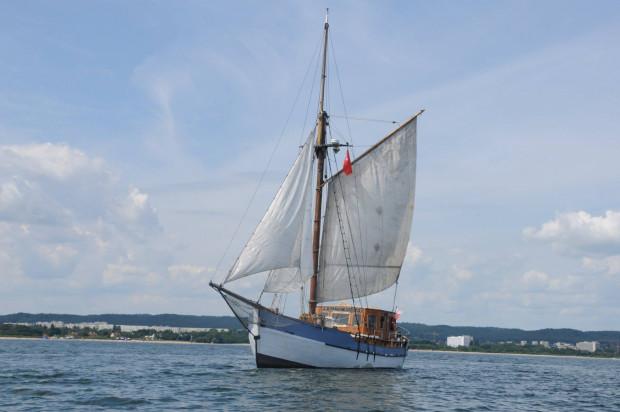Żaglowiec Baltic Star, który będzie kursować między Twierdzą Wisłoujście a nabrzeżem Zbożowym w Nowym Porcie.