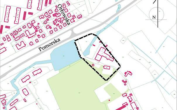 Oliwa, teren objęty nowym planem w rejonie ul. Pomorskiej 68.