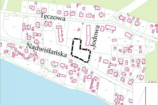 Sobieszewo, teren objety nowym planem w rejonie ulic Jodowej i Nadwiślańskiej.