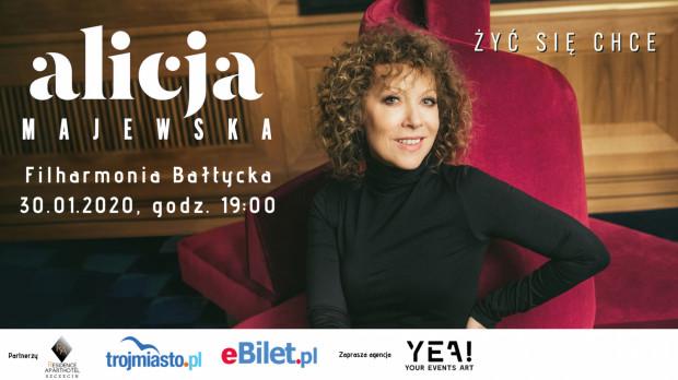 Alicja Majewska wystąpi w Filharmonii Bałtyckiej 30 stycznia.
