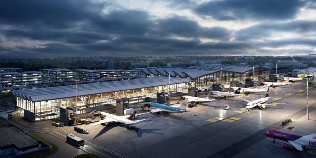 Otwarcie nowej części terminalu T2 planowane jest na początek 2022 r.