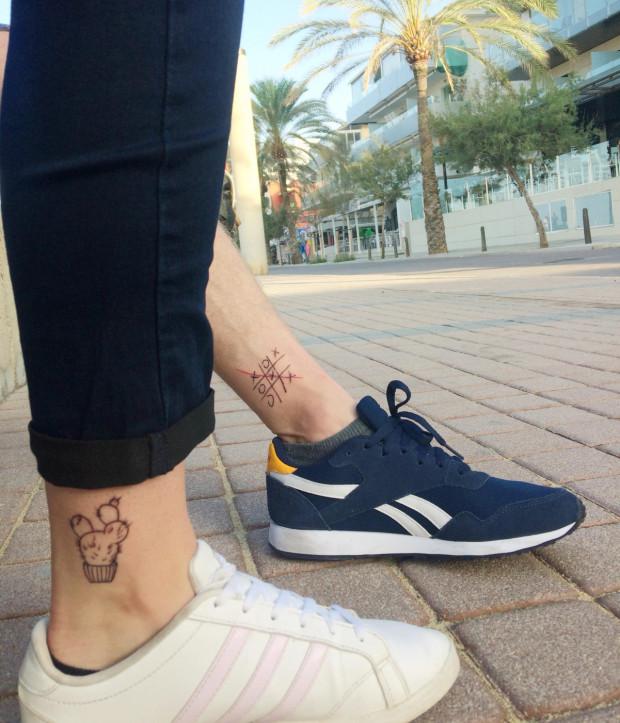 - Fajna pamiątka, całe życie będzie mi się kojarzyć z Majorką - mówi Kasia, która wraz z mężem zrobiła sobie wakacyjny tatuaż podczas urlopu.