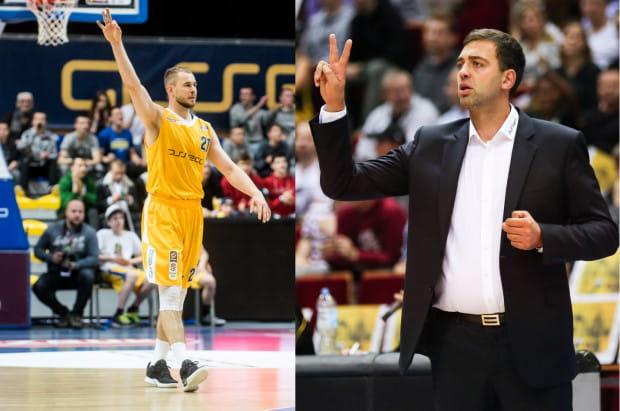 Bartłomiej Wołoszyn (z lewej) przyznaje, że Asseco Arka Gdynia ma wyważony zespół, natomiast trener Trefla Sopot Marcin Stefański (z prawej) do spotkania z Anwilem Włocławek przygotowuje drużynę, jak do każdego innego starcia.