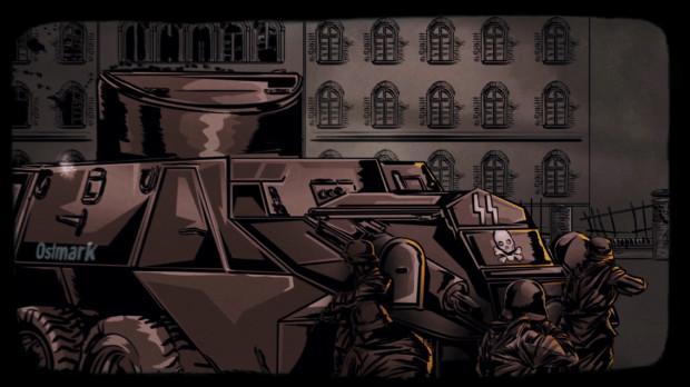 """Kadr z filmu """"Obrońcy Poczty""""."""