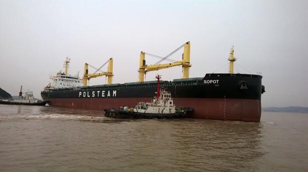 """Masowiec """"Sopot"""" o nośności 39 tys. ton to nowy statek we flocie Polskiej Żeglugi Morskiej."""