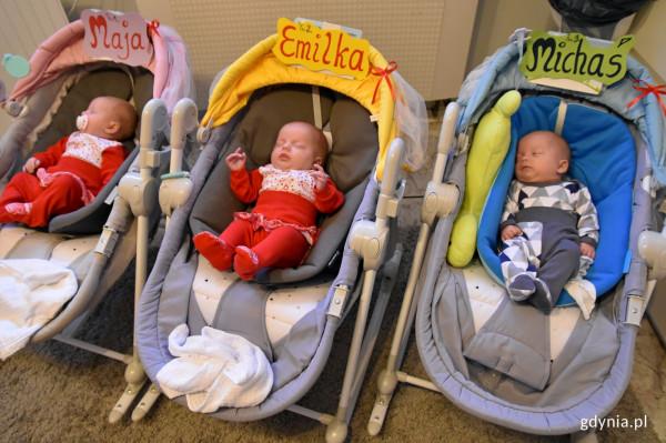 Maja, Emilia i Michał przyszli na świat 18 sierpnia.