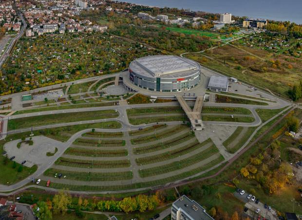 Podczas targów w Monachium przedstawiciele Sopotu pokazywali potencjalnym inwestorom zdjęcia okolic Ergo Areny z lotu ptaka.