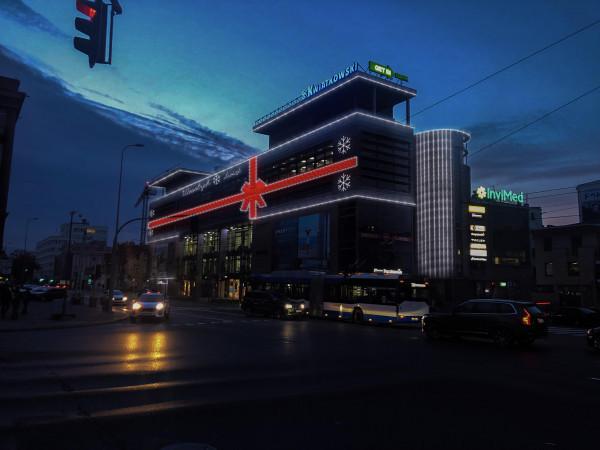 Wizualizacja nowej iluminacji Centrum Kwiatkowskiego w Gdyni.