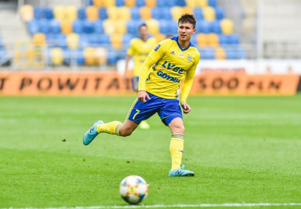 Maciej Jankowski w sparingu z Olimpią Grudziądz najpierw wyprowadził Arkę Gdynia na prowadzenie, a następnie je jeszcze podwyższył.