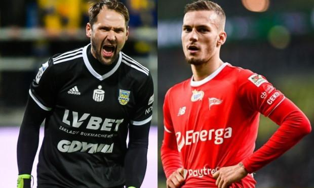 Pavels Steinbors (z lewej) i Lukas Haraslin (z prawej) nie mieli powodów do radości po sobotnich meczach eliminacji mistrzostw Europy 2020.