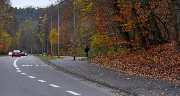 Nowa nawierzchnia chodnika na Małokackiej ma zachęcić do jazdy rowerem.