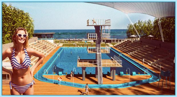 Tak mógłby wyglądać odkryty basen na Polance Redłowskiej.