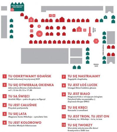 Plan Jarmarku Bożonarodzeniowego
