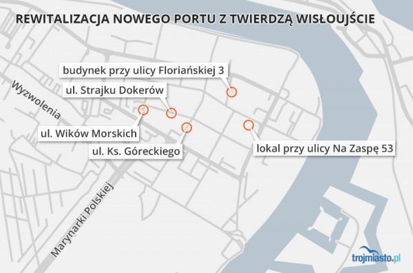 Remont ulic Strajku Dokerów i Wilków Morskich jest częścią większego projektu rewitalizacji Nowego Portu z Twierdzą Wisłoujście, na który przeznaczono w sumie ok. 31 mln zł.